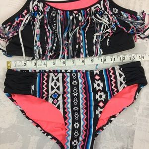 144dcf7ebb8 Justice Swim | Girls Tween Size 18 Fringe Bathing Suit | Poshmark